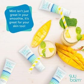 mint is good for skin suu balm